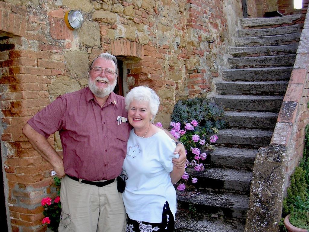 Diana & Ian Kent at La Casella in Tuscony, Italy