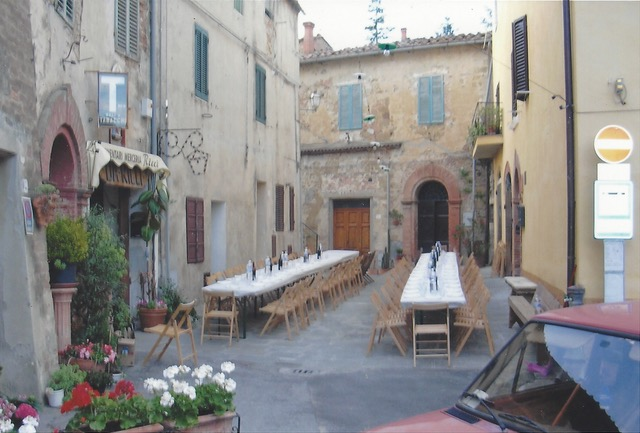 An Evening To Remember In Montisi Empty Tables by Author Ian Kent