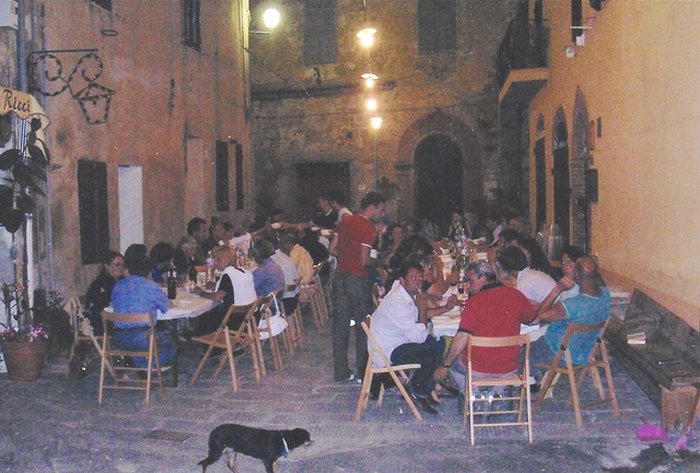 An Evening To Remember In Montisi The tables are filling by Author Ian Kent