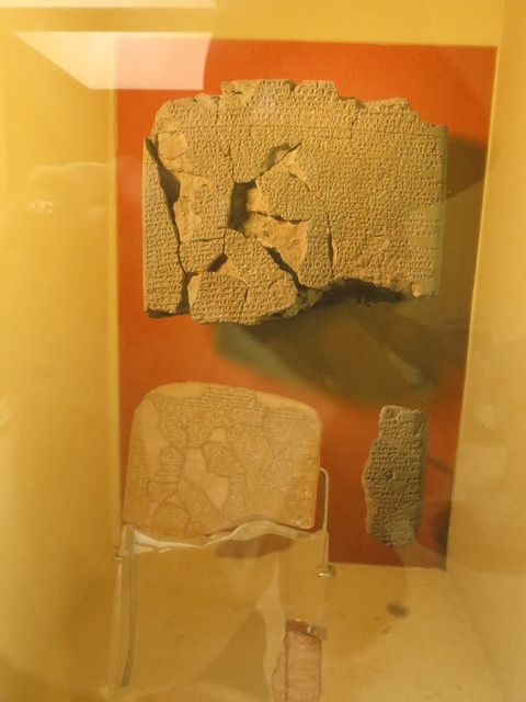 Actual Clay tablets of the treaty