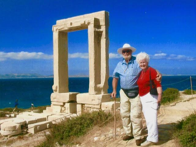 Diana & I standing near the Naxos Portara
