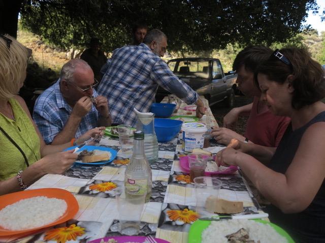 A Cretan meal al fresco