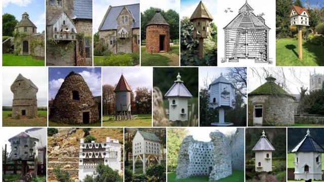 Screenshot (Google) of various styles of dovecotes around the world