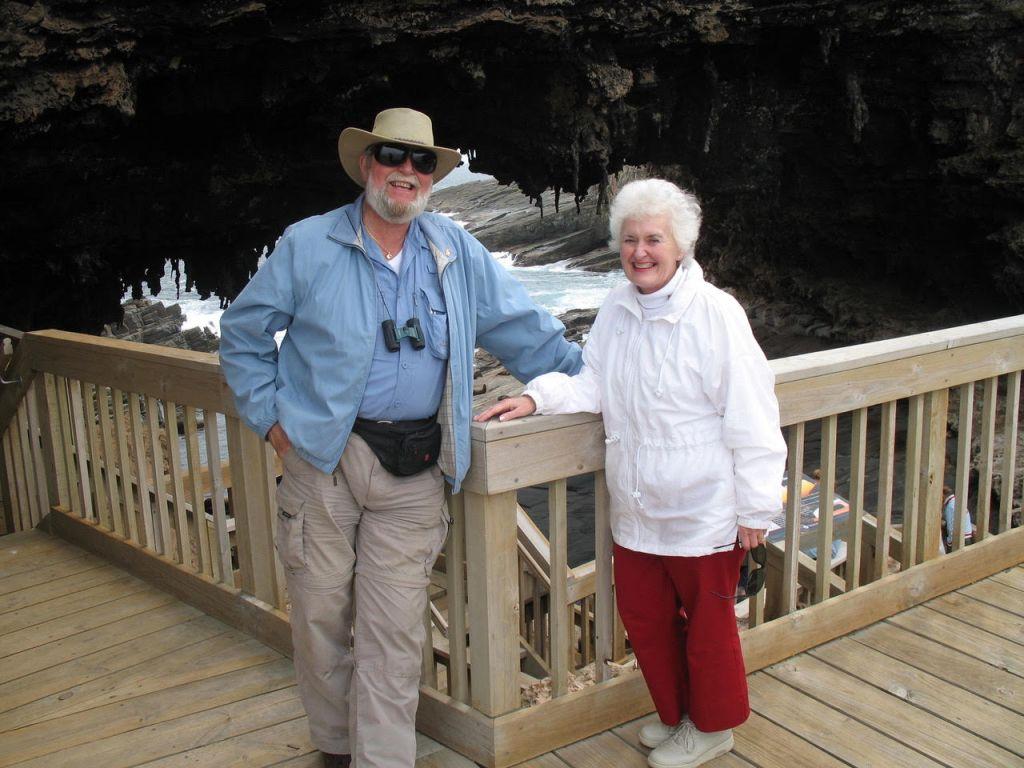Diana & I at Admiral's Arch - author Ian Kent
