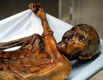 Ötzi as he was found - author Ian Kent