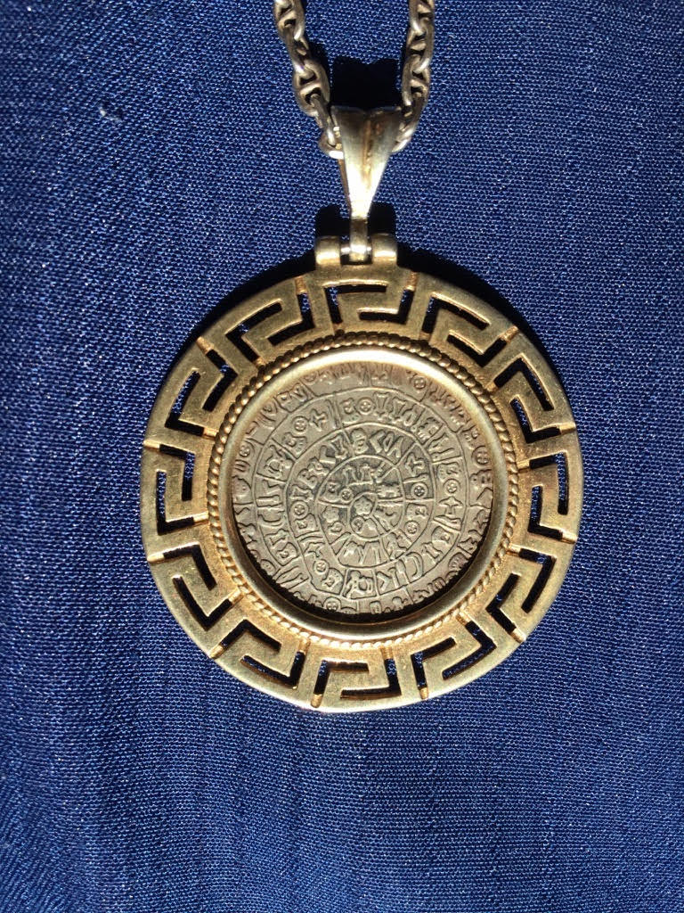Phaestos Disk jewelry - author Ian Kent