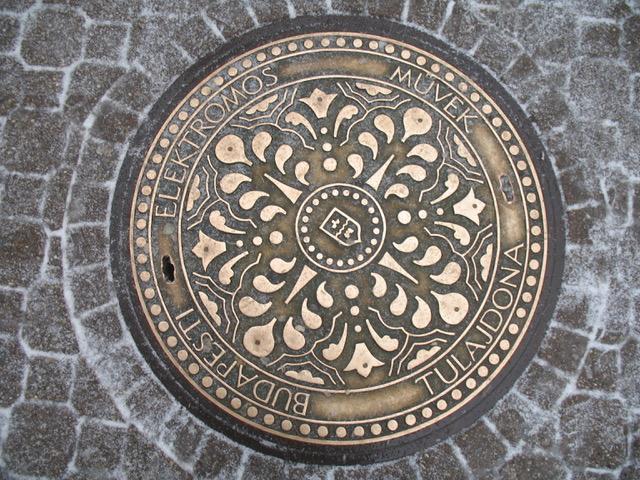 Author Ian Kent shares a photo of Budapest manhole cover