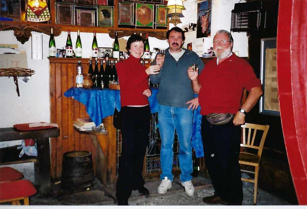Our host, Jean-Marc, with Colleen and myself from Author Ian Kent
