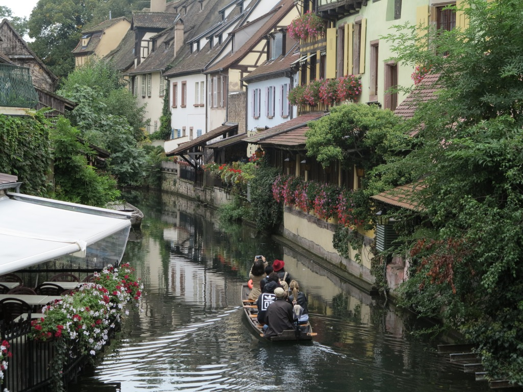 The colourful buildings of Colmar as seen on our canal tour from Author Ian Kent