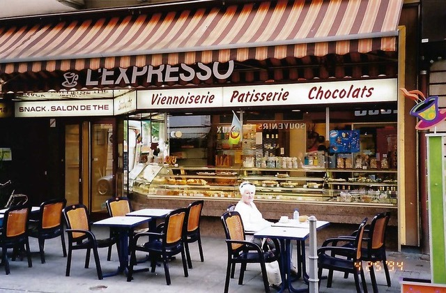 Our breakfast bistro for cafe au lait and croissant from Ian Kent Author