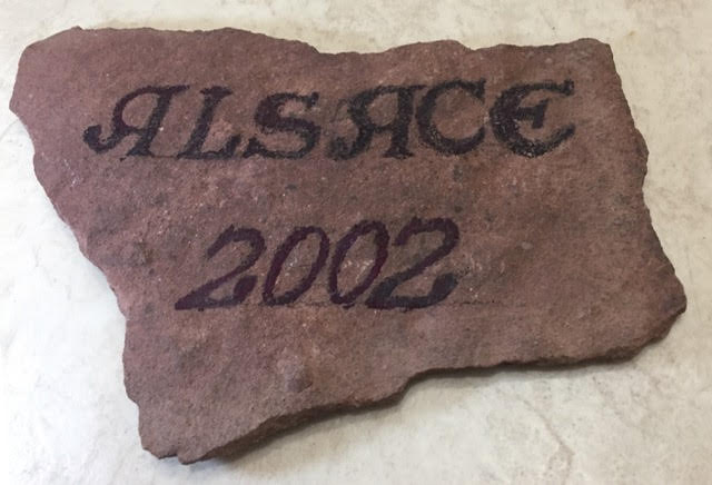 A slab of Vosges mountain sandstone., a great paperweight and conversation starter at home from Ian Kent Author.