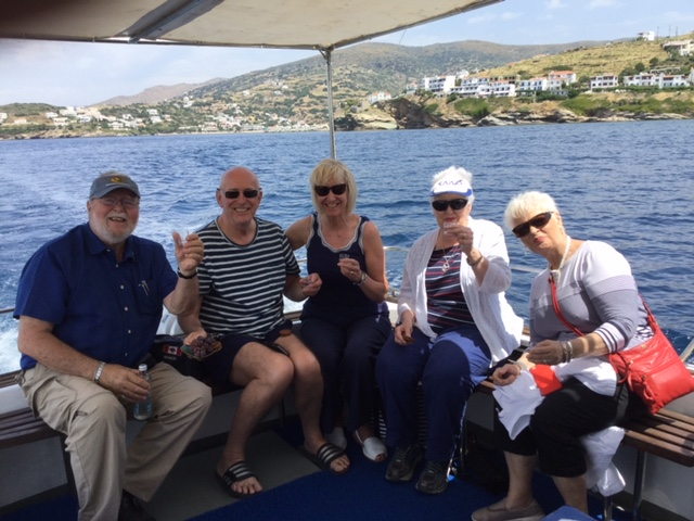 Our 'Andros Cruise author Ian Kent