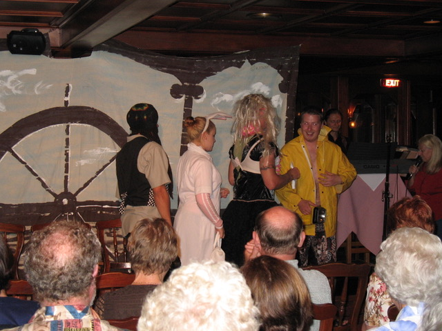 The crew's vaudeville show from Author Ian Kent