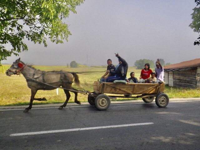 A Roma family out for a drive Ian Kent author