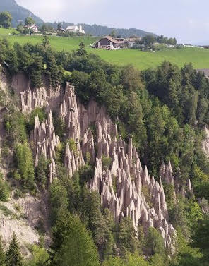 View of the Earth Pyramids from the Seilbahn from Author Ian Kent