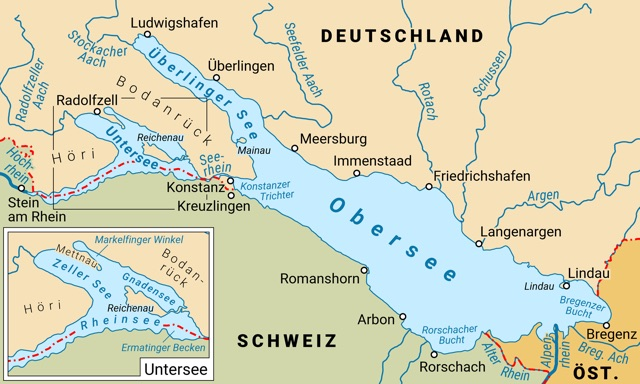 Bodensee Map from Author Ian Kent