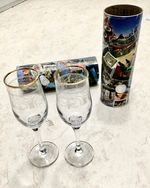Our picnic wine glasses from Author Ian Kent