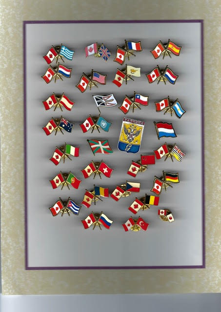 Friendship pins from Author Ian Kent