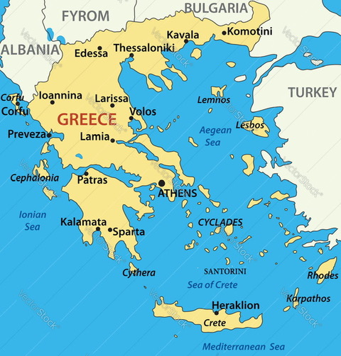 Map of Greece from Author Ian Kent