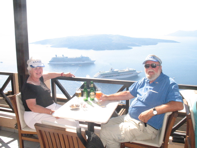 Lunch over the Caldera from Author Ian Kent