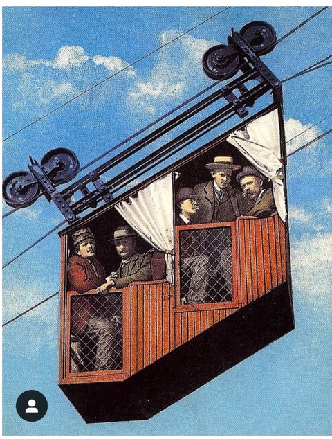 The first mountain cable car or funicular from Author Ian Kent