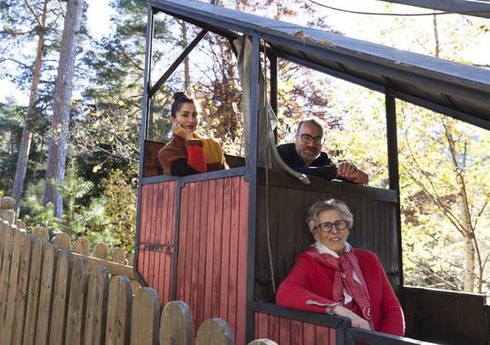 Today's passengers – Josef Schrott and family (today's innkeeper of Gasthof Kohlern) from Author Ian Kent