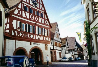 Ilbesheim Rathaus or city hall from Author Ian Kent