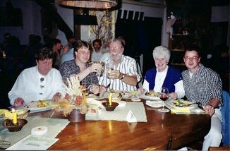 Our table with Friedel (the mother), Thomas, myself, Diana and Stefan from Author Ian Kent